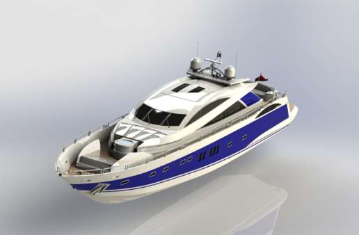 Sunseeker Yatch Assembly and Rendering