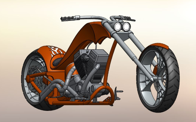 American Chopper Modelling in Solidworks